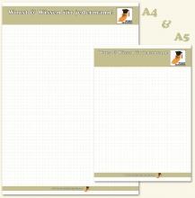 Druckvorlage des Wurstakademie-Notizblocks in A5 und A4